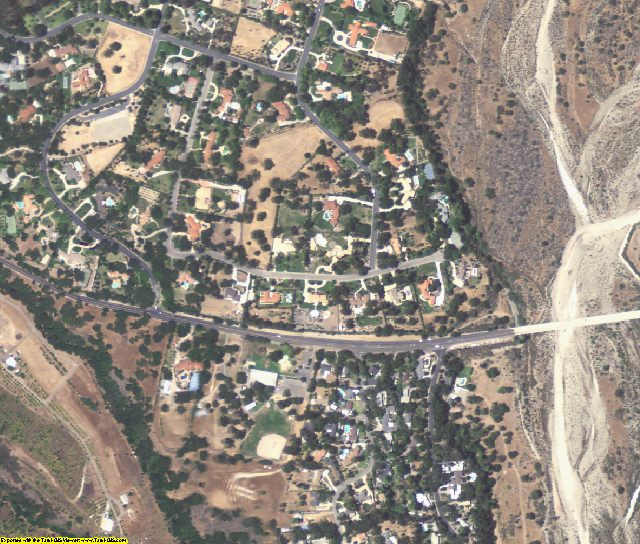 Ventura County, CA aerial photography detail