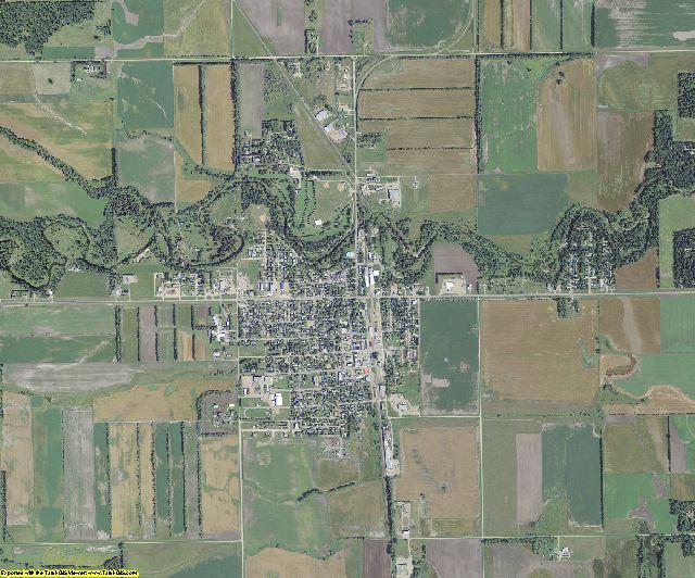 Walsh County, North Dakota aerial photography
