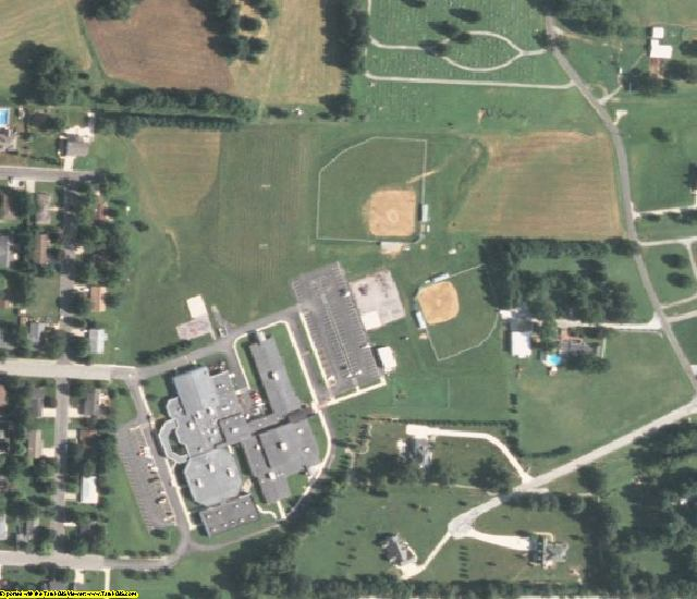 Washington County, IL aerial photography detail