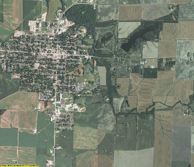 Washington County, Illinois aerial photography