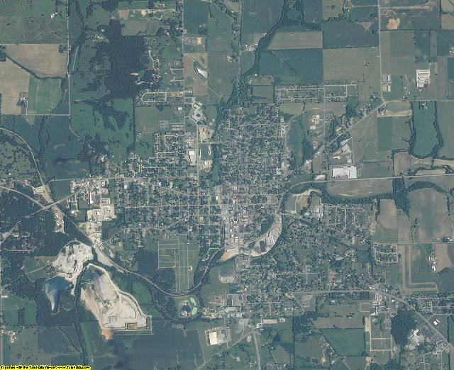 Washington County, Indiana aerial photography