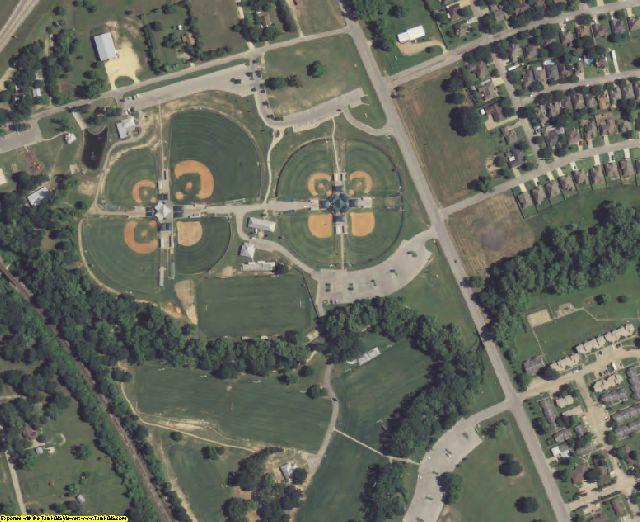 Washington County, TX aerial photography detail