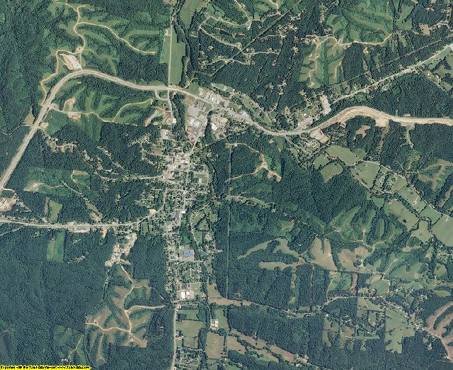 Wayne County, Tennessee aerial photography