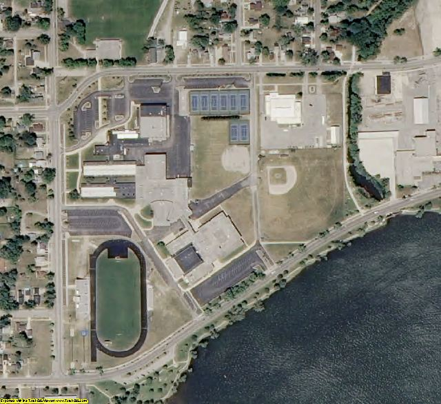 Wexford County, MI aerial photography detail