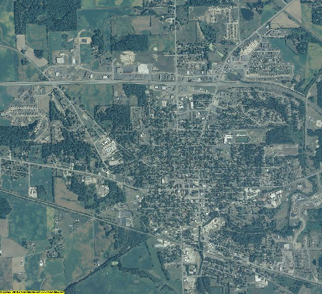 Whitley County, Indiana aerial photography