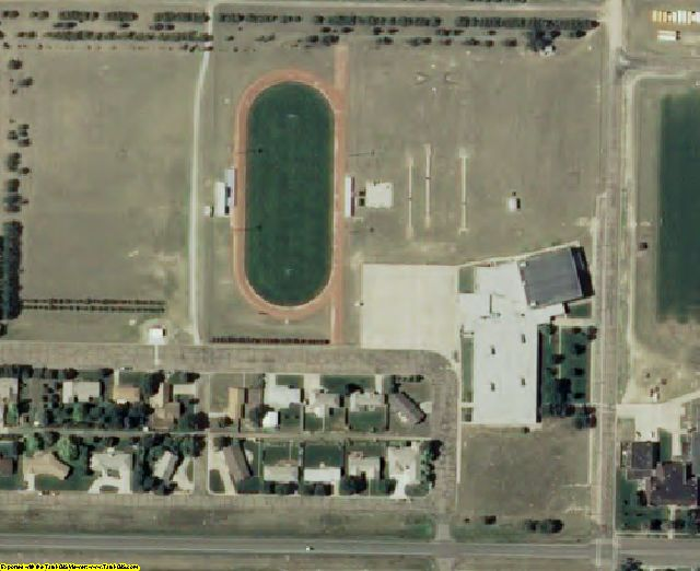 Wichita County, KS aerial photography detail