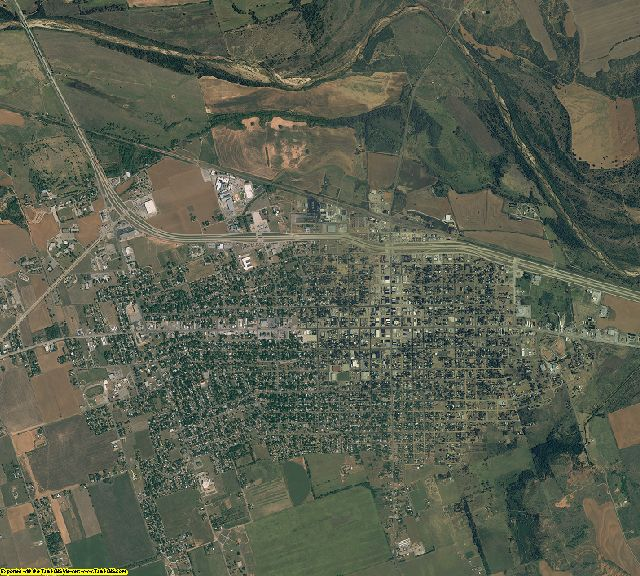 Wilbarger County, Texas aerial photography