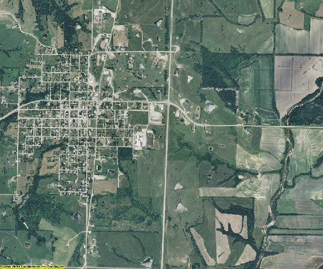 Worth County, Missouri aerial photography
