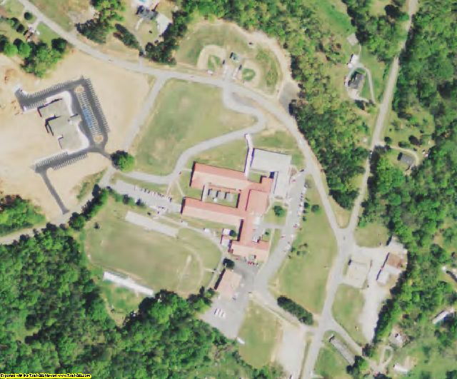 Abbeville County, SC aerial photography detail