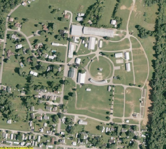Adams County, OH aerial photography detail