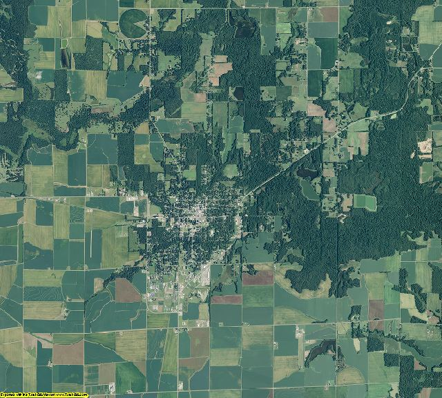 Arkansas County, Arkansas aerial photography