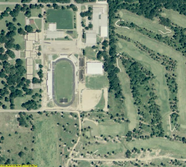 Ashley County, AR aerial photography detail