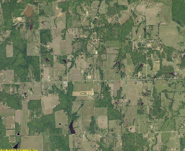 Atoka County, Oklahoma aerial photography