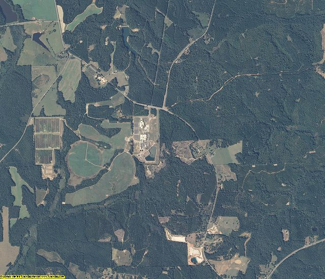 Barbour County, Alabama aerial photography