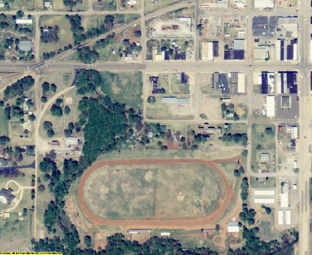Beckham County, OK aerial photography detail
