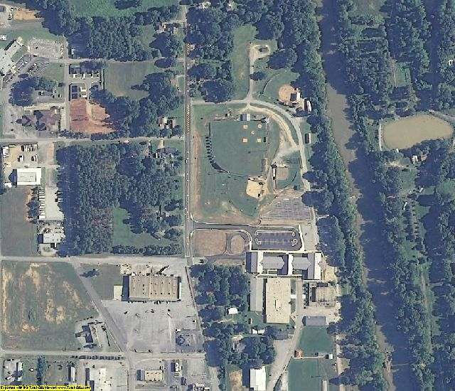 Bibb County, AL aerial photography detail