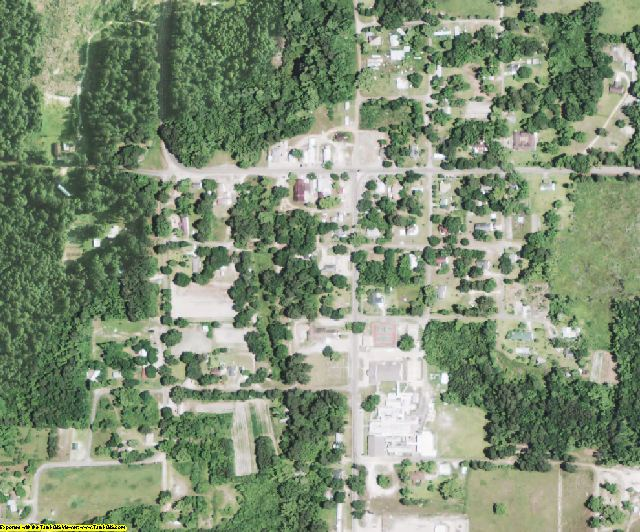 Bienville County, LA aerial photography detail