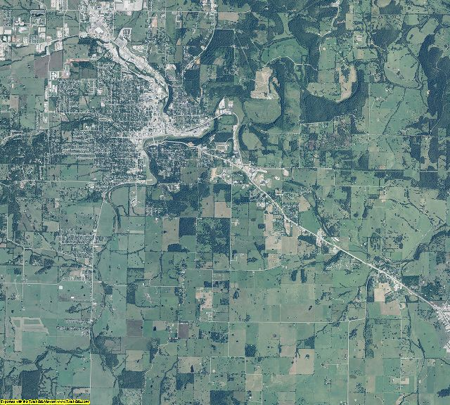 Boone County, Arkansas aerial photography