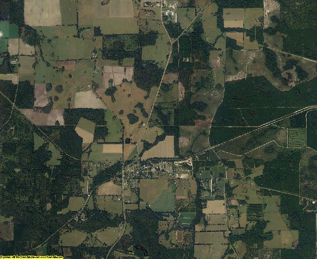 Bradford County, Florida aerial photography