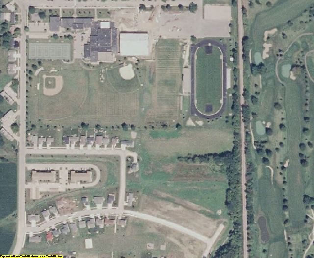 Bremer County, IA aerial photography detail