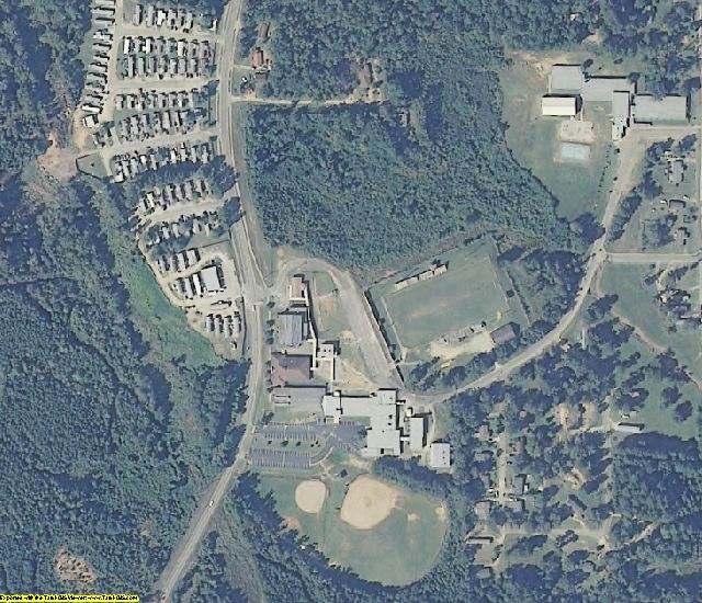 Bullock County, AL aerial photography detail