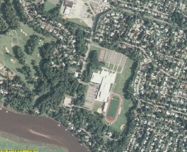 Burlington County, NJ aerial photography detail