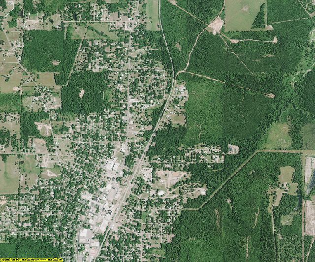 Caddo County, Louisiana aerial photography