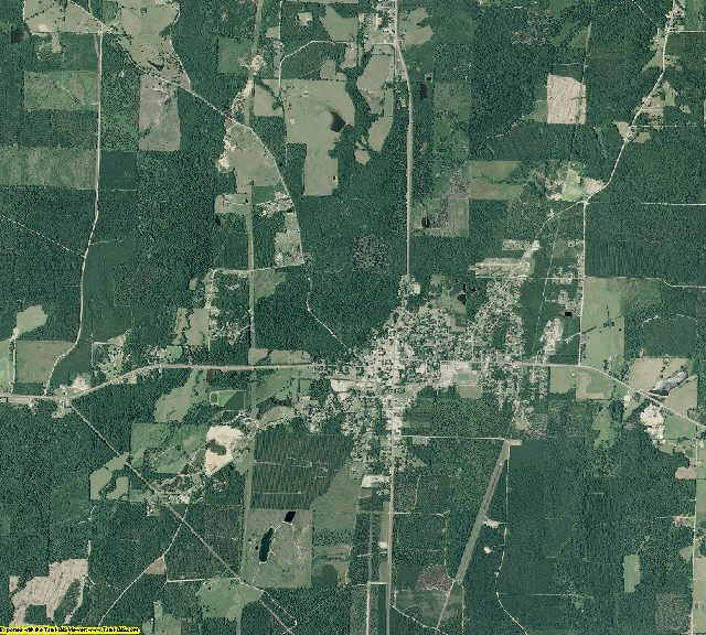 Calhoun County, Arkansas aerial photography