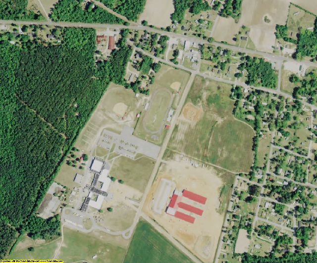 Calhoun County, SC aerial photography detail