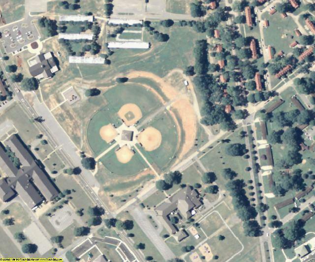 Chattahoochee County, GA aerial photography detail