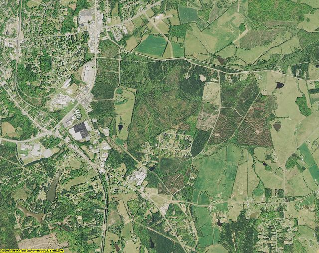 Chester County, South Carolina aerial photography