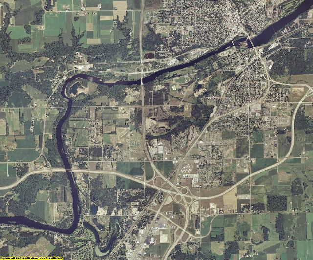 Chippewa County, Wisconsin aerial photography