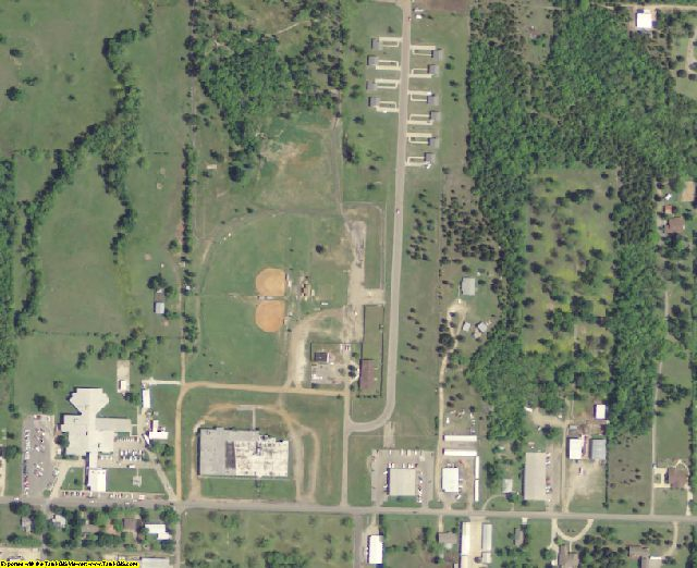 Choctaw County, OK aerial photography detail