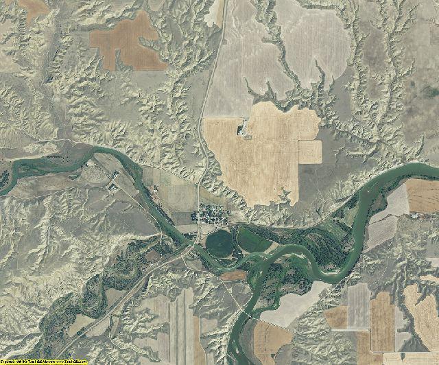 Chouteau County, Montana aerial photography