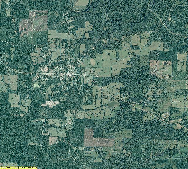 Clark County, Arkansas aerial photography
