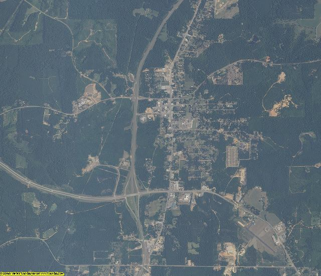 Clarke County, Alabama aerial photography