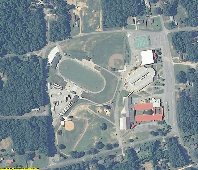 Cleburne County, AL aerial photography detail