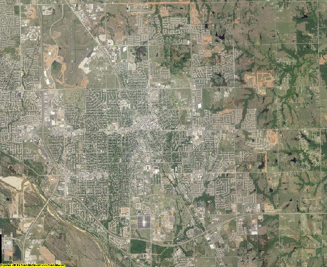 Cleveland County, Oklahoma aerial photography