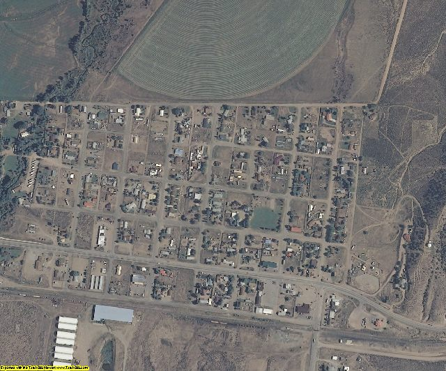 Costilla County, CO aerial photography detail