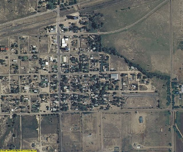 Crowley County, CO aerial photography detail