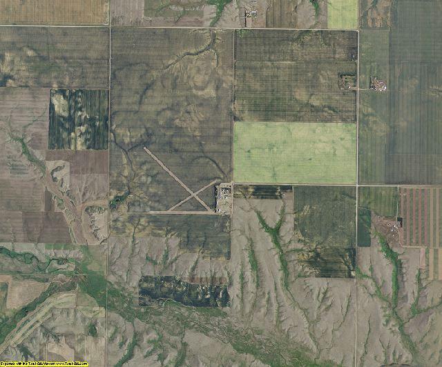Daniels County, Montana aerial photography