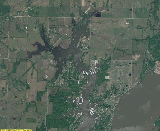 Delaware County, Oklahoma aerial photography