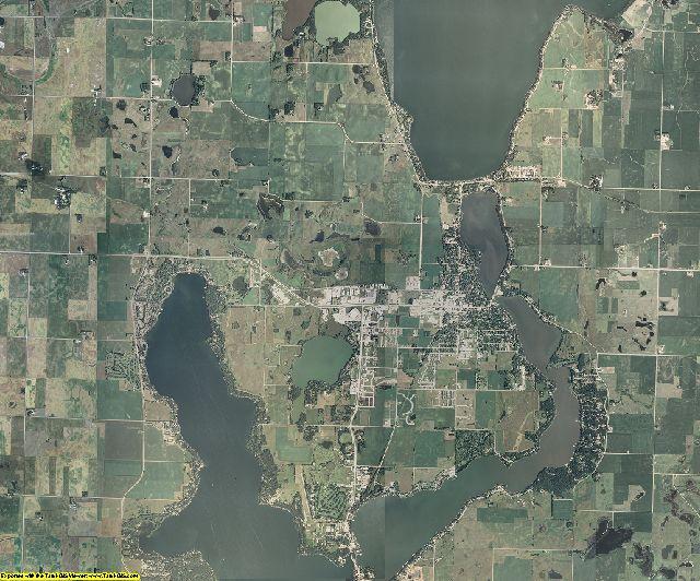 Dickinson County, Iowa aerial photography