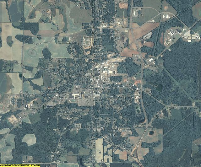 Early County, Georgia aerial photography