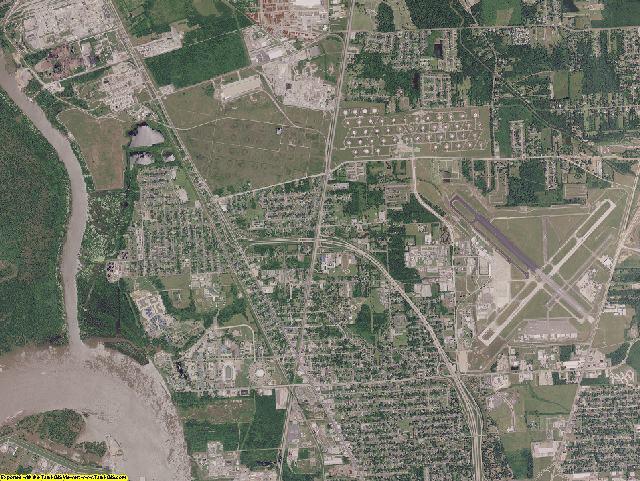 East Baton Rouge County, Louisiana aerial photography
