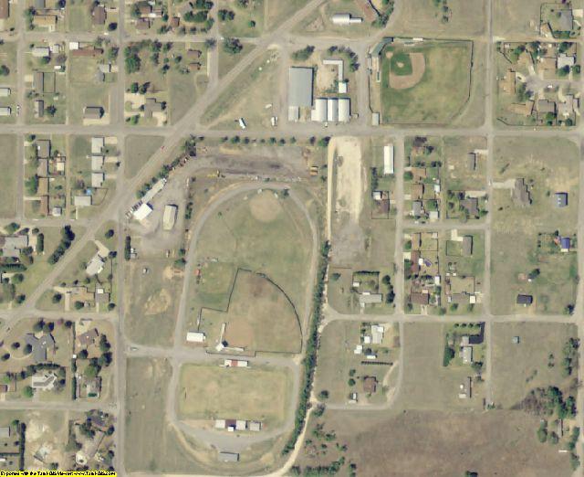 Ellis County, OK aerial photography detail