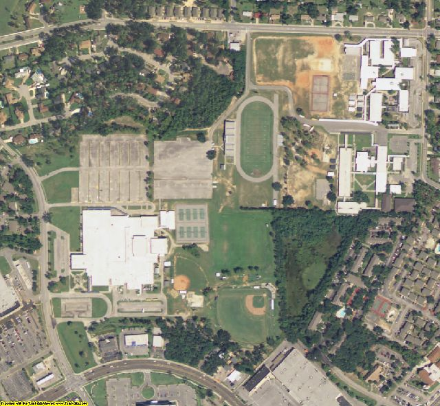 Escambia County, FL aerial photography detail