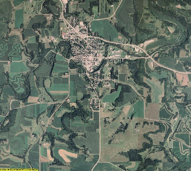 Fillmore County, Minnesota aerial photography