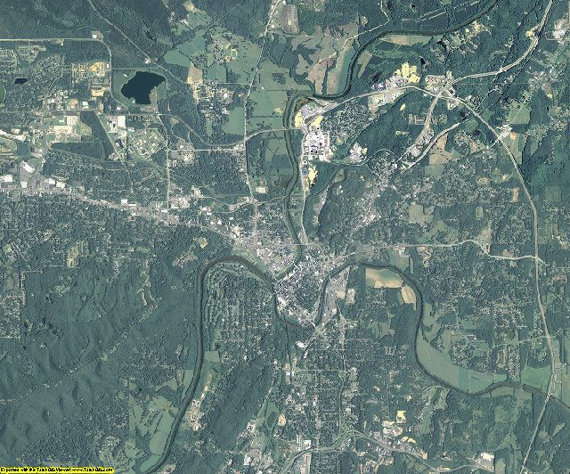 Floyd County, Georgia aerial photography