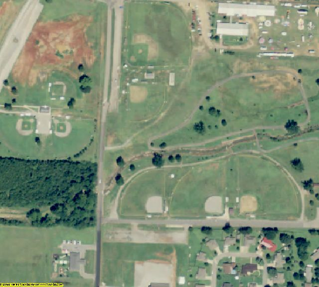 Franklin County, AR aerial photography detail